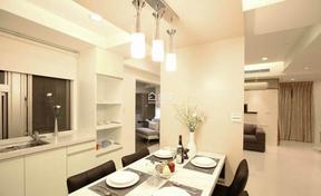 简洁白色系现代风格餐厅