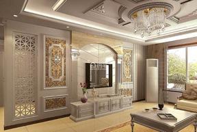 精美面积188平现代四居客厅效果图