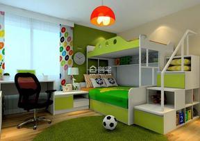 清新绿色现代儿童装修效果图