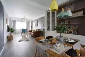 110平米三居室北欧风格效果图